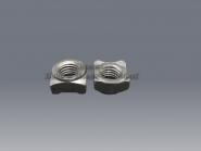 Anschweißmuttern M 4 DIN 928 Stahl blank