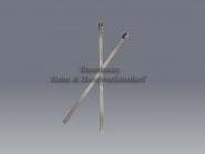 Kabelbinder 4,6 x 150 mm Edelstahl