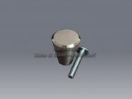 Zierknopf Möbelknopf 20 - 29 mm Edelstahl matt konisch