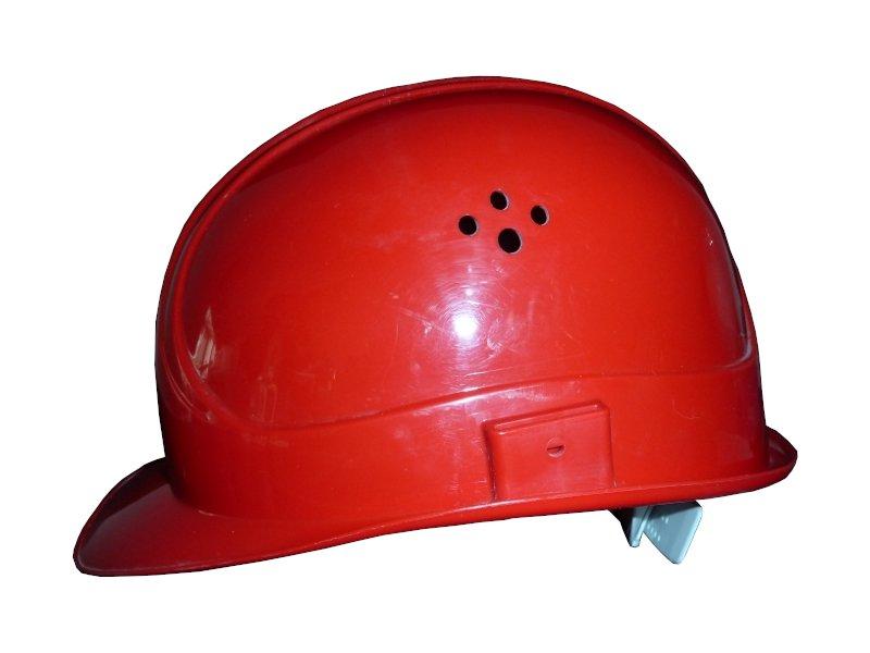 Bauhelm rot 51 - 64 cm